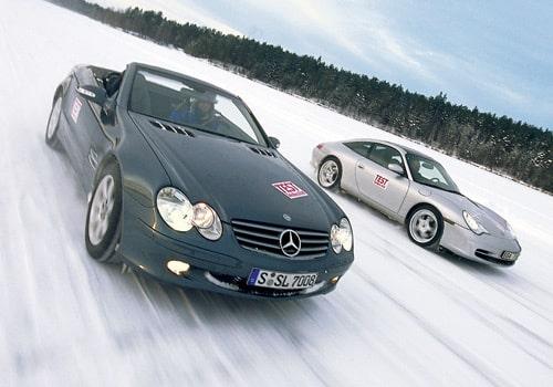 Mercedes SL 500 och Porsche 911 Targa