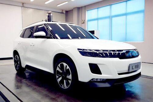 Nevs elbil L 113, en vidareutveckling på 9-3-grunden.