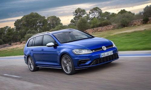 Volkswagen Golf Sportscombi i R-utförande.