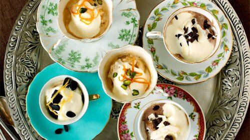 Affogato med choklad och kokos - en välkänd kombination