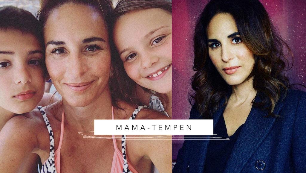 """""""Gåsmammans"""" Alexandra Rapaport med barnen Elmer och Blanca."""