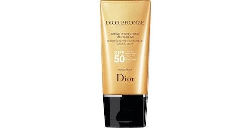 Bäst i test solskydd för ansiktet: Dior Bronze beautifying protectivecreme sublime glow spf 50.