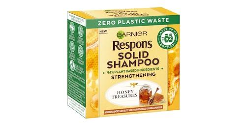 Schampokakan Garnier Respons Solid Shampoo Honey Treasures är en DV-favorit.