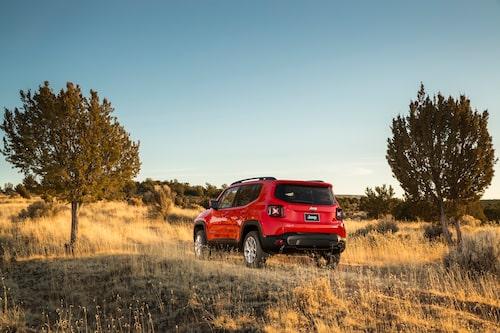 Kantig kaross ger bra utrymmen. De kantiga hjulhusen är Jeepdesign.