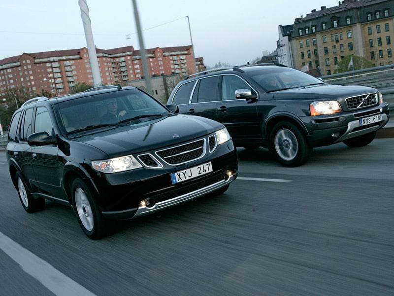 Provkörning av Saab 9-7X V8 och Volvo XC90 V8 Executive