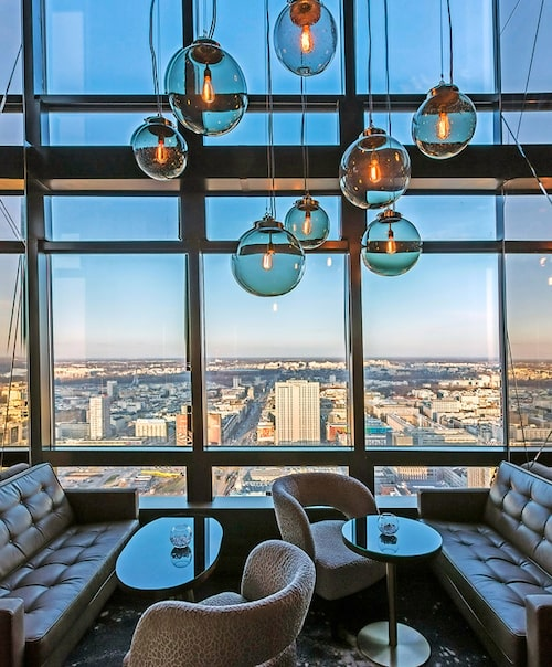 Hotell Marriotts panoramabar. Foto: Panoramaskybar
