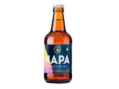 Sigtuna Non Alco Pale Ale har en tydlig smak av humle.