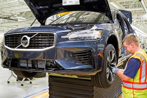 I dag tillverkas Volvo S60 i fabriken.