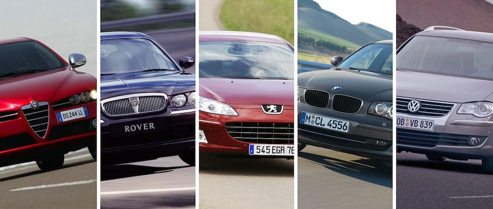 Bilarna med flest maskinskador