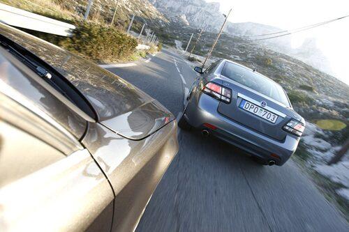 På utsidan skvallrar bara en något förhöjd bakfjädring om Saab XWD-drivning. Vi hade gärna önskat oss mer egen Saab-look.