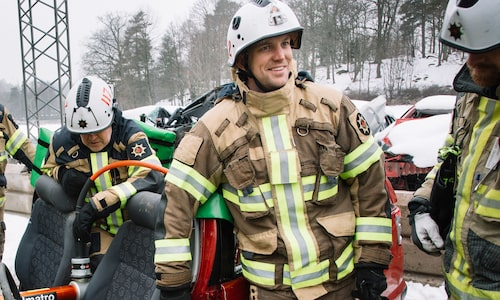 Tommy Carnebo arbetar som brandman men utbildar också sina kollegor.