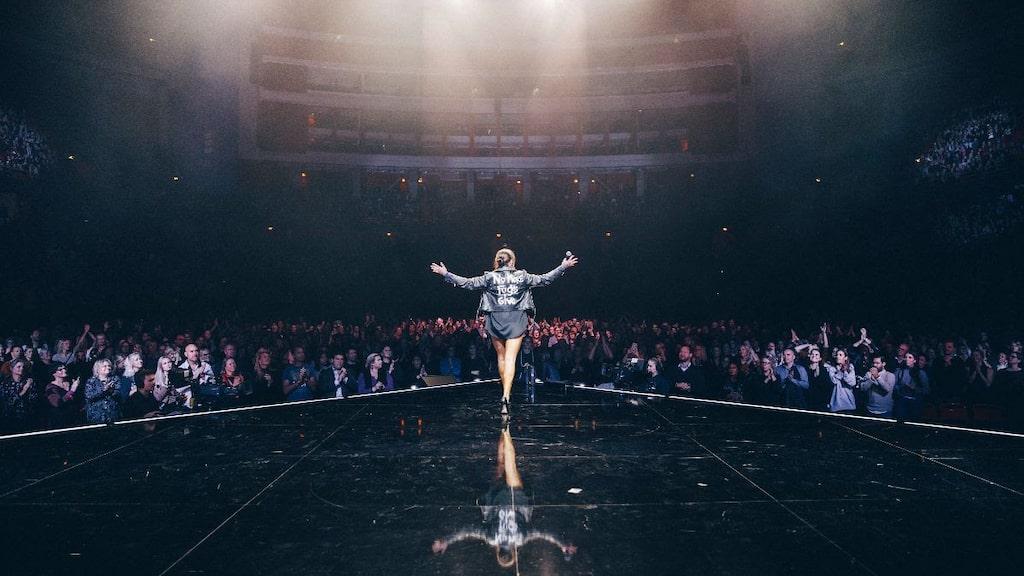 Mia Skäringer på Globen i Stockholm förra året.