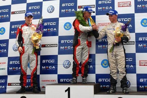 Topp tre i heat två: Felix Rosenqvist, Daniel Roos och Kevin Kleveros.
