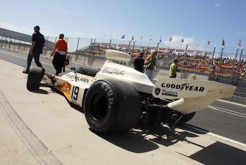 Segrarvagnen av Sveriges första Grand Prix 1973,  McLaren M23/1, var tillbaka.