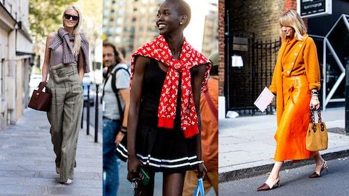 Tre heta sätt att styla koftan på: över axlarna, i färgharmoni med resten av din look, eller i en färg som sticker ut (vi älskar den röda Louis Vuitton-koftan!).