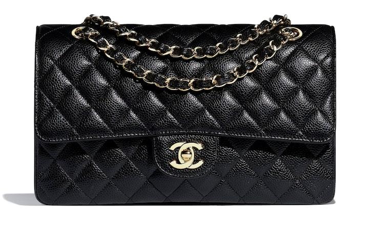Chanel Classic Flap bag i kalvskinn.