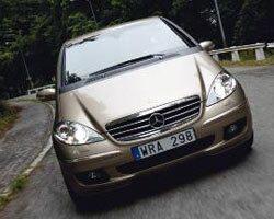 Provkörning av Mercedes A200