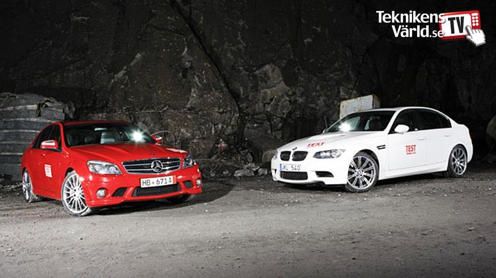 BMW M3 mot Mercedes C 63 AMG