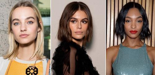 Mjuka, luftiga lobs är en het trend för korta hår.
