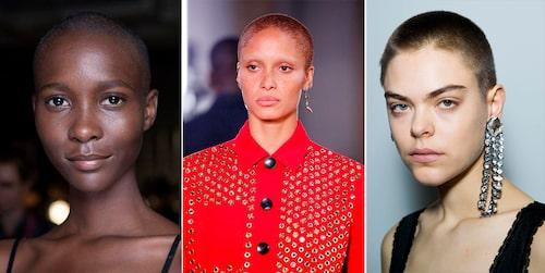 För en extra trendig och edgy look, matcha ditt rakade hår med ljusa ögonbryn som toppmodellen Adwoa Aboah.