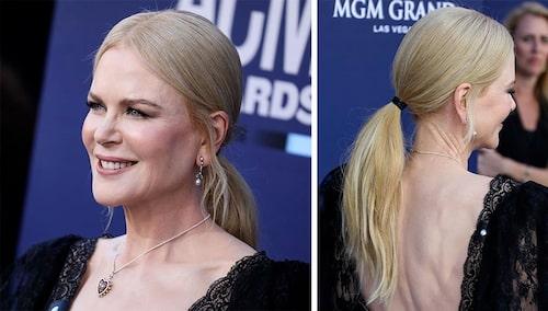 Nicole Kidman, 52, har på senare år börjat sätta upp sitt hår i en stram hästsvans.