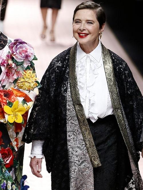 Italiensk-svensk-amerikanska fotomodellen och regissören Isabella Rossellini, 67 år.