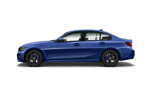 Nya 330i med M Sport-paket i färgen Portimao Blue metallic.