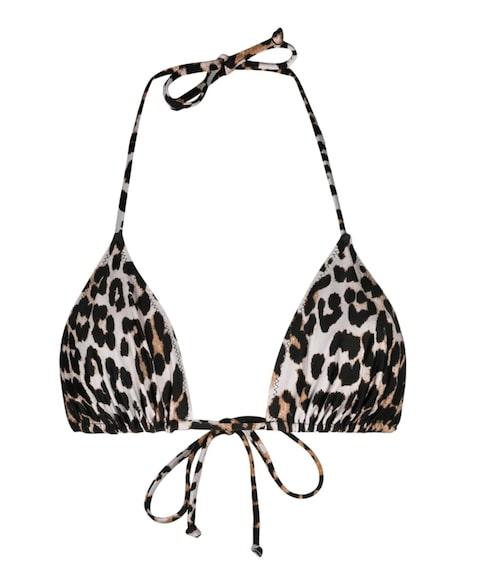 Leopardmönstrad bikiniöverdel från Ganni.