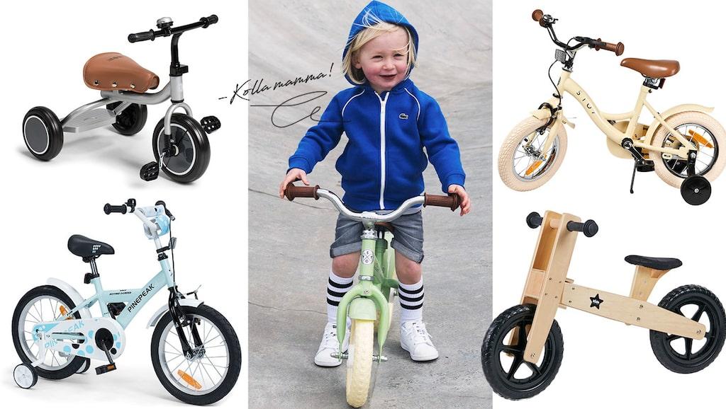 Vi har valt ut fina barncyklar: Trehjulingar, balanscyklar och tvåhjulingar!