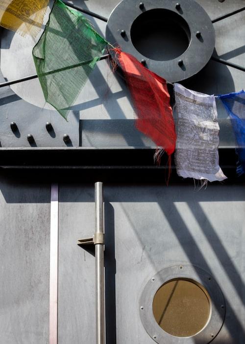 Prayer flags från Nepal ska hålla onda andar borta.