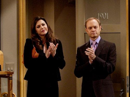 Elaine och Niles i tv-långköraren Frasier.