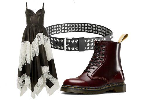 Nitar, spets och läder hjälper dig att få till en punkrockig stil.