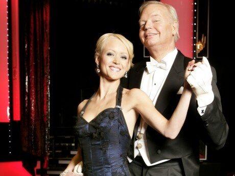 <p>Carl Jan Granqvist med danspartnern Maria Lindberg</p>