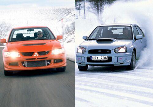 Mitsubishi Lancer Evolution VIII och Subaru Impreza STI Petter Solberg Edition