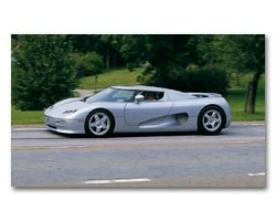 Provkörning av Koenigsegg CC
