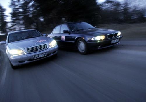 Mercedes S 320 CDI och BMW 740 d