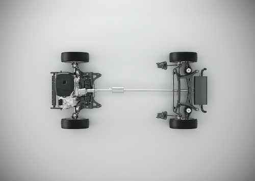 CMA with 4-cylinder powertrain - Top view