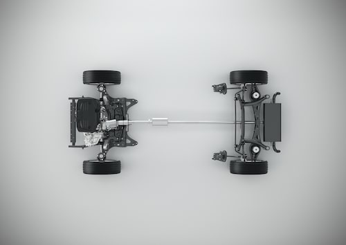CMA with 3-cylinder powertrain - Top view