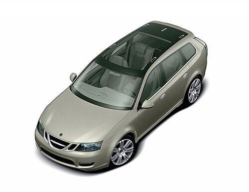 Skillnaderna mellan konceptbilen 9-3 SportCombi och produktionsbilen 9-3 SportCombi är mycket få.