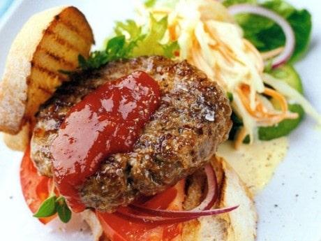 Hamburgare med coleslaw