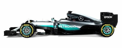 Mercedes Formel 1-bil för 2016, F1 W07 Hybrid, lånar ut sin motor till supersportbilen.