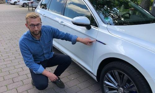 GTE-märket är viktigt för Volkswagen. Erik Wedberg hjälper till att trycka fast det lite extra.