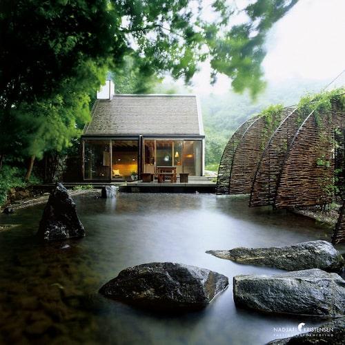 Den japanska trädgården ärformgiven av landskapsarkitekter på Nod.