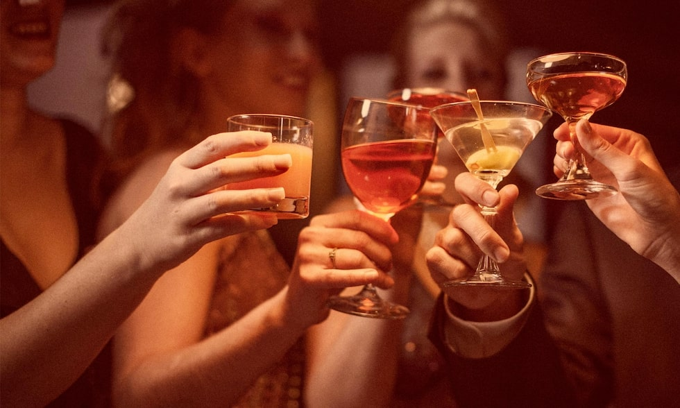En alkoholfri mojito med ingefära tackar man inte nej till på nyårsnatten!