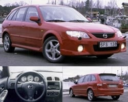 Provkörning av Mazda 323 F
