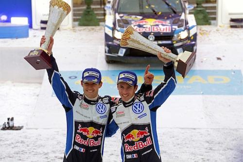 Sébastien Ogier och kartläsare Julien Ingrassia vann Rally Sweden för andra året i rad, tredje gången totalt.