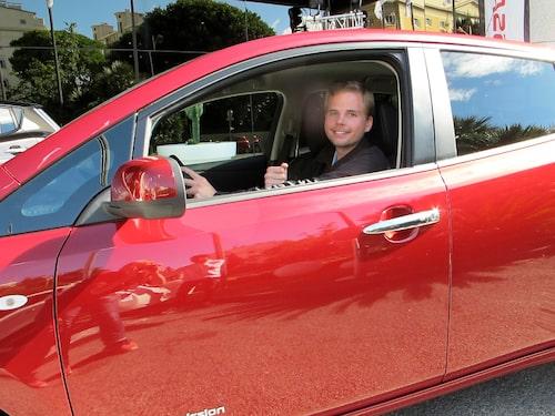 Jesper kör Nissan Leaf från Nice till Col de Turini.