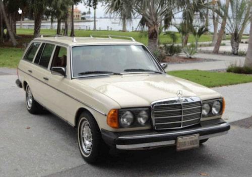 … och hans sista blev en Mercedes med kombikaross och dieselmotor.