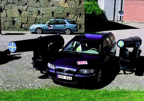 Saab 9-5 Aero SportCombi och Volvo V70 T5