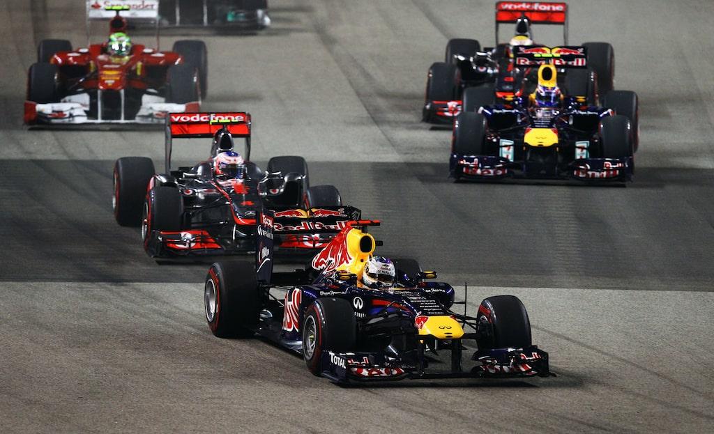 Sebastian Vettel vann i Singapore